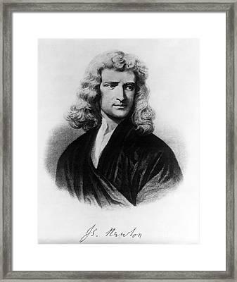 Isaac Newton, English Polymath Framed Print by Omikron