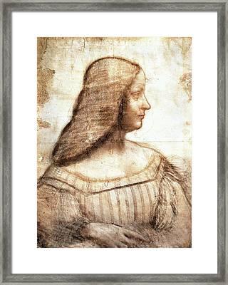 Isabella D'este Framed Print by Leonardo da Vinci