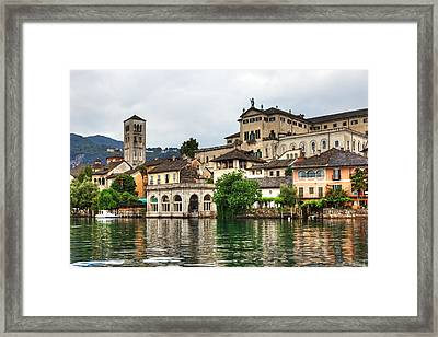 Island Of San Giulio On Lake Orta Framed Print by Joana Kruse