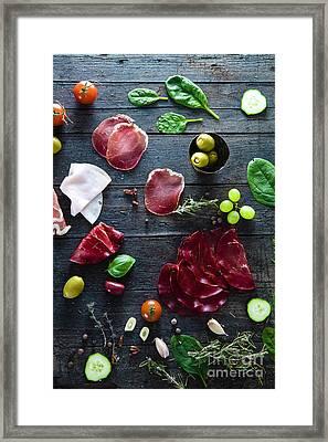 Italian Ham Framed Print by Mythja Photography