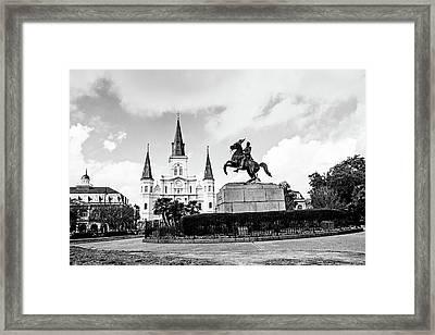 Jackson Square Framed Print by Scott Pellegrin