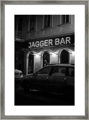 Jagger Bar In Ufa Russia Framed Print by John Williams