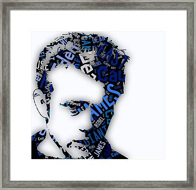 James Dean Movie Titles Framed Print by Marvin Blaine