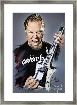 James Hetfield Framed Print by Melanie D