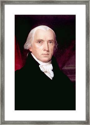 James Madison 1751-1836, U.s. President Framed Print by Everett