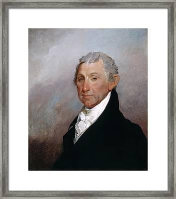 James Monroe Framed Print by Gilbert Stuart