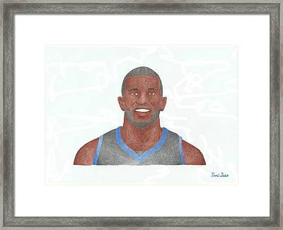 Jason Richardson Framed Print by Toni Jaso