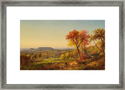 Jasper Francis Cropsey Framed Print by Mounts Adam