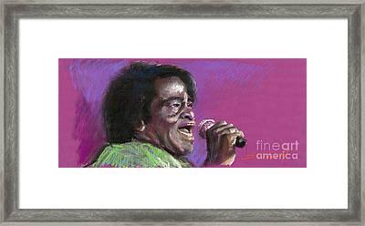 Jazz. James Brown. Framed Print by Yuriy  Shevchuk