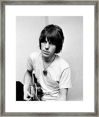 Jeff Beck 1966 Yardbirds Framed Print by Chris Walter