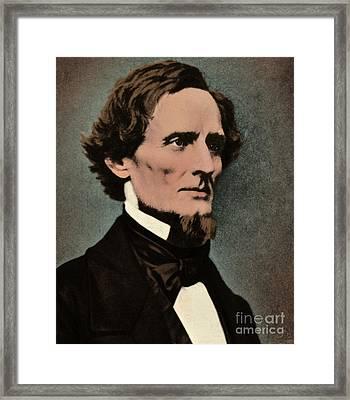 Jefferson Davis, President Framed Print by Photo Researchers