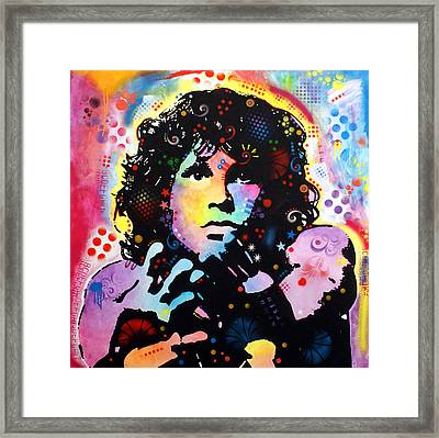 Jim Morrison Framed Print by Dean Russo