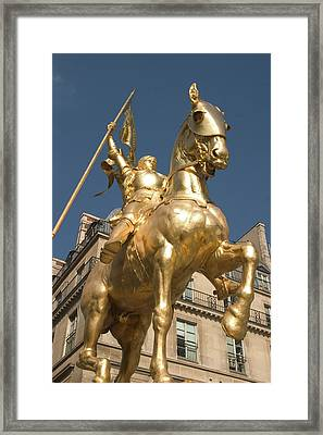 Joan Of Arc Framed Print by Carl Purcell