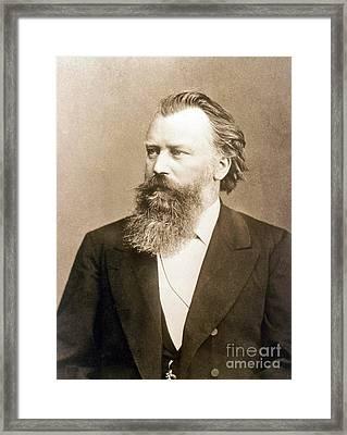 Johannes Brahms, German Composer Framed Print by Science Source