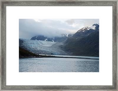 John Hopkins Glacier Framed Print by Michael Peychich