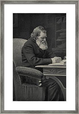 John Ruskin, 1819-1900. English Writer Framed Print by Vintage Design Pics