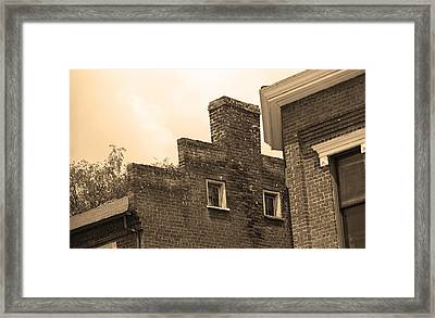 Jonesborough Tennessee - Small Town Architecture Framed Print by Frank Romeo