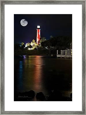Jupiter Lighthouse Framed Print by Robert Smith