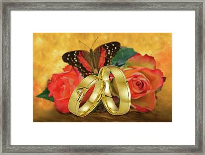 Just Married Framed Print by Manfred Lutzius