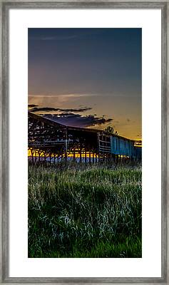 Kalispell Mill Triptych Framed Print by Bryan Moore