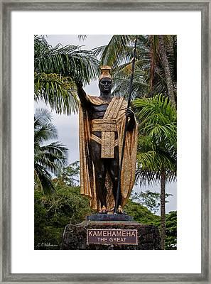 Kamehameha The Great Framed Print by Christopher Holmes
