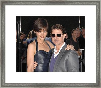 Katie Holmes Wearing A Holmes Yang Framed Print by Everett