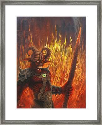 Keeper Of The Peace Framed Print by Rodrick Strelau