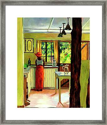 Kenyan Kitchen Framed Print by Tilly Willis