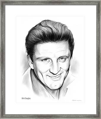Kirk Douglas Framed Print by Greg Joens