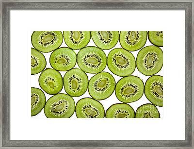 Kiwifruit Framed Print by Nailia Schwarz