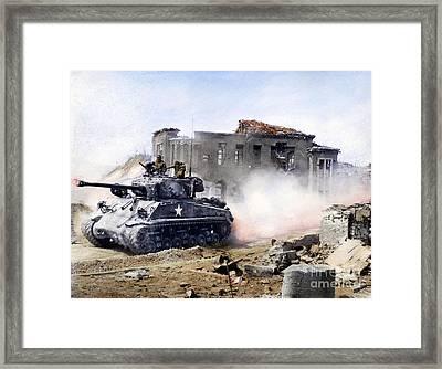 Korean War: Tank, 1951 Framed Print by Granger
