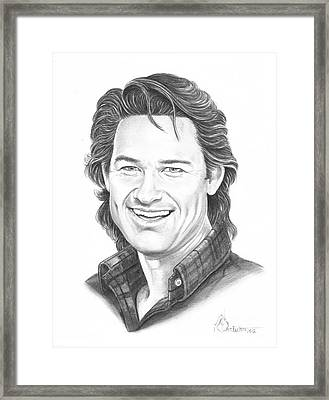 Kurt Russell Framed Print by Murphy Elliott