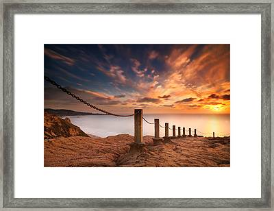 La Jolla Sunset 2 Framed Print by Larry Marshall