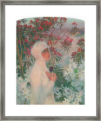 La Poetesse Clemence Isaure Framed Print by Henri