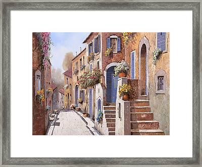 La Strada Al Sole Framed Print by Guido Borelli