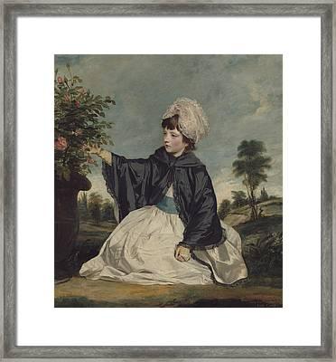 Lady Caroline Howard Framed Print by Sir Joshua Reynolds