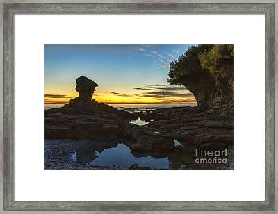 Laguna Beach At Dusk Framed Print by Eddie Yerkish