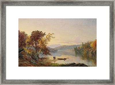 Lake George Framed Print by Jasper Francis Cropsey