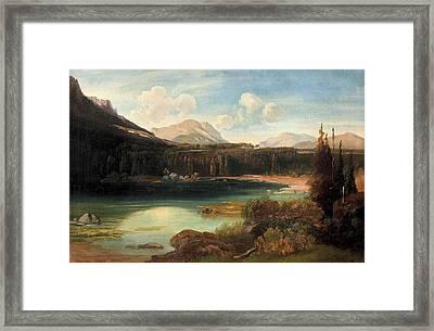 Landscape With Lake Framed Print by MotionAge Designs