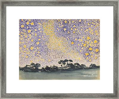 Landscape With Stars Framed Print by Celestial Images