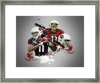 Larry Fitzgerald Cardinals Framed Print by Joe Hamilton