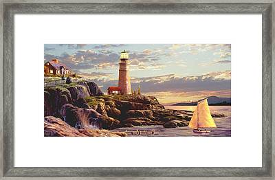 Last Light 2 Framed Print by Ron Chambers