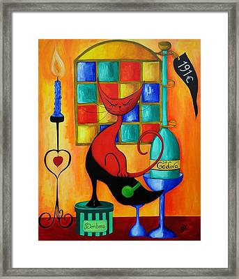 Le Chat Rouge Lady Godiva Framed Print by Silvia Regueira