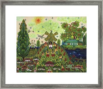 Lebedy Village Visited By T. G. Shevchenko Sometimes Framed Print by Marfa Tymchenko