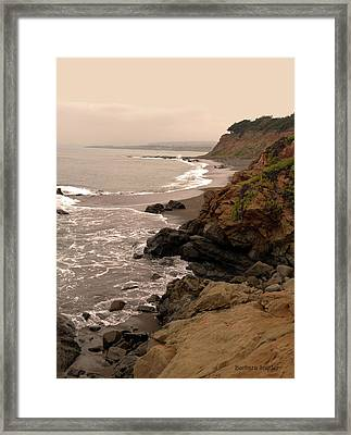 Leffingwell Landing Cambria Framed Print by Barbara Snyder