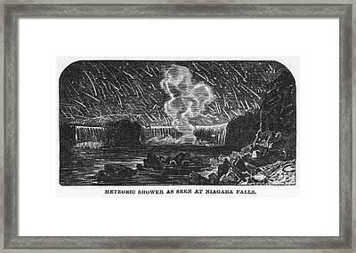 Leonid Meteor Shower, 1833 Framed Print by Granger