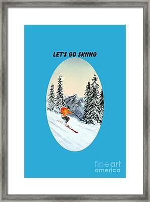Let's Go Skiing Framed Print by Bill Holkham