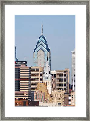 Liberty Place And City Hall Framed Print by Bill Cannon