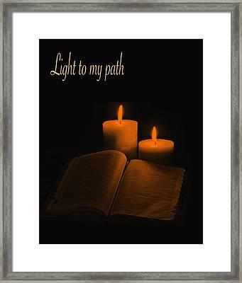 Light To My Path Framed Print by Art Spectrum