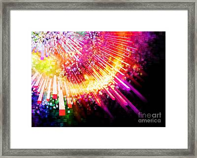 Lighting Explosion Framed Print by Setsiri Silapasuwanchai